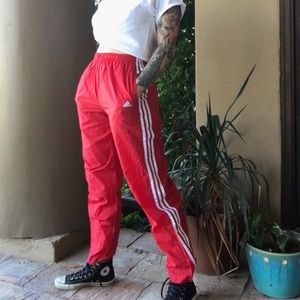 Vintage Adidas high waist track pant shell joggers